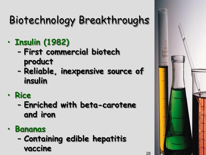 Biotechnology Breakthroughs