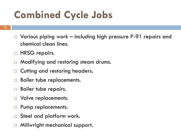 Combined Cycle Jobs