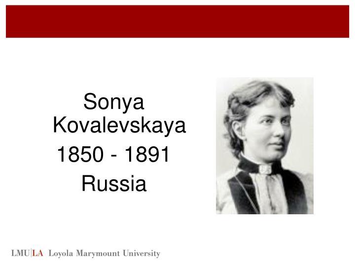 Sonya Kovalevskaya