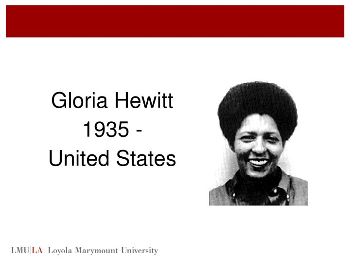 Gloria Hewitt