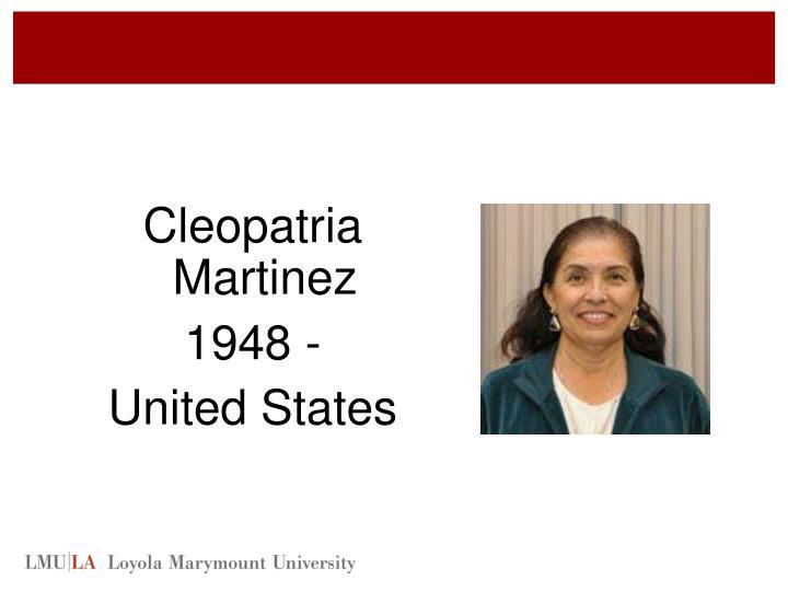 Cleopatria Martinez