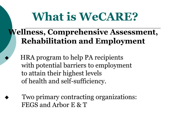 What is WeCARE?