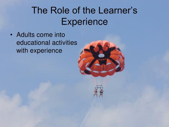The Role of the Learner's Experience