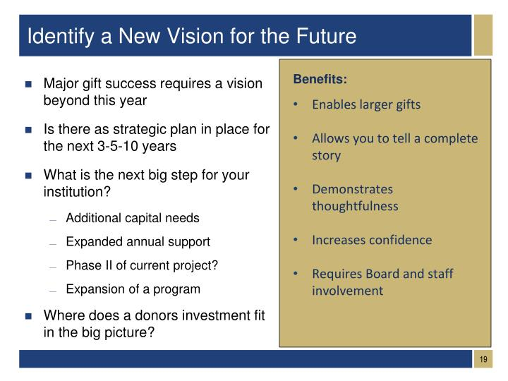 Identify a New Vision for the Future