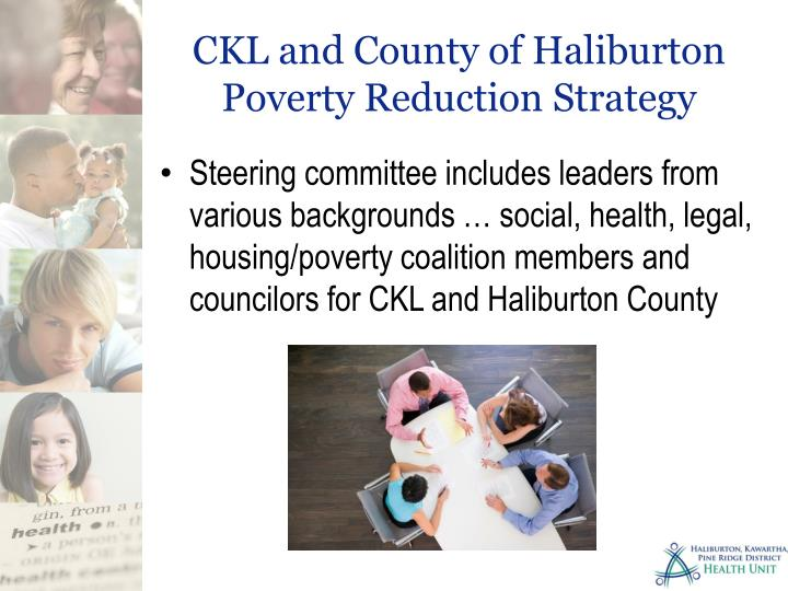 CKL and County of Haliburton Poverty Reduction Strategy