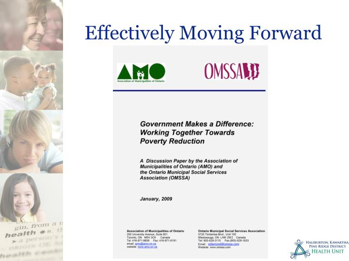 Effectively Moving Forward