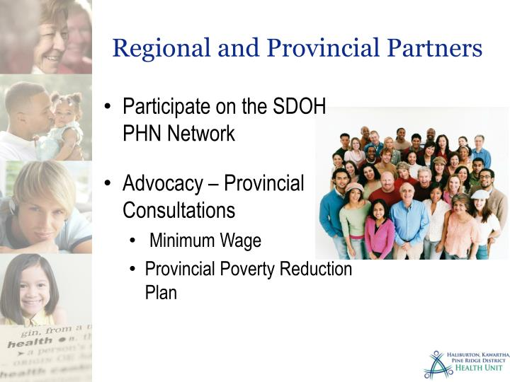 Regional and Provincial Partners