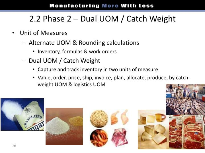 2.2 Phase 2 – Dual UOM / Catch Weight
