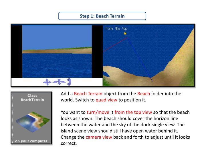 Step 1: Beach Terrain