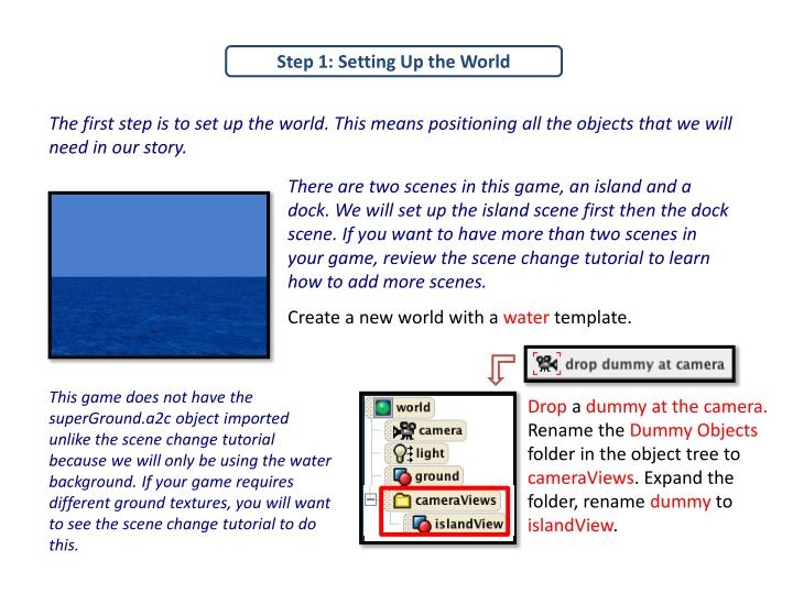 Step 1: Setting Up the World