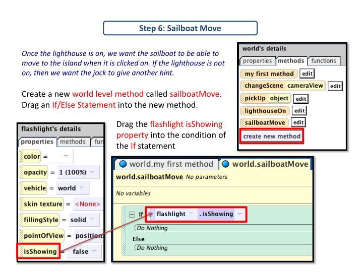 Step 6: Sailboat Move