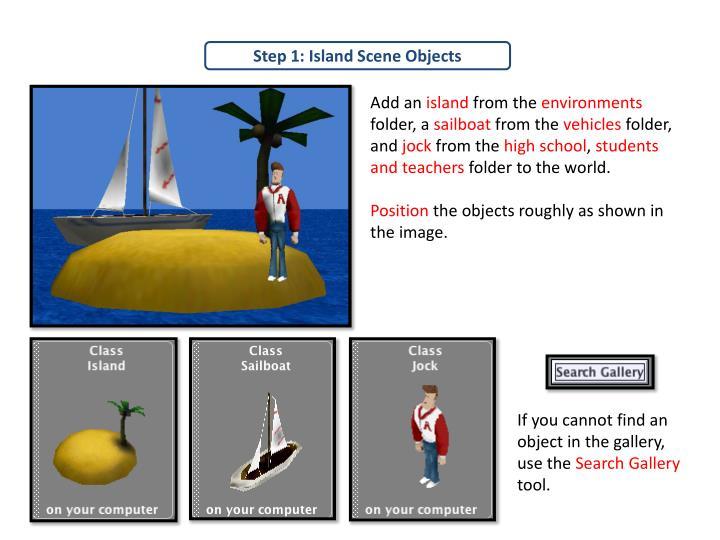 Step 1: Island Scene Objects