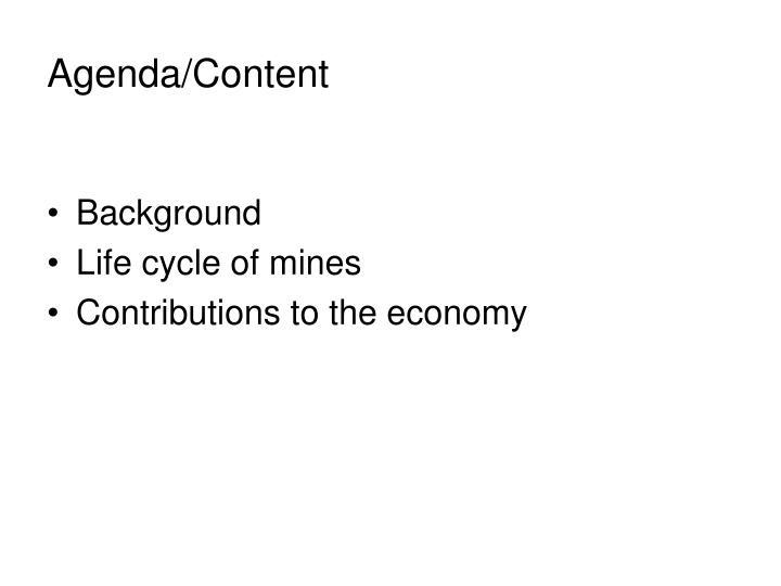 Agenda/Content