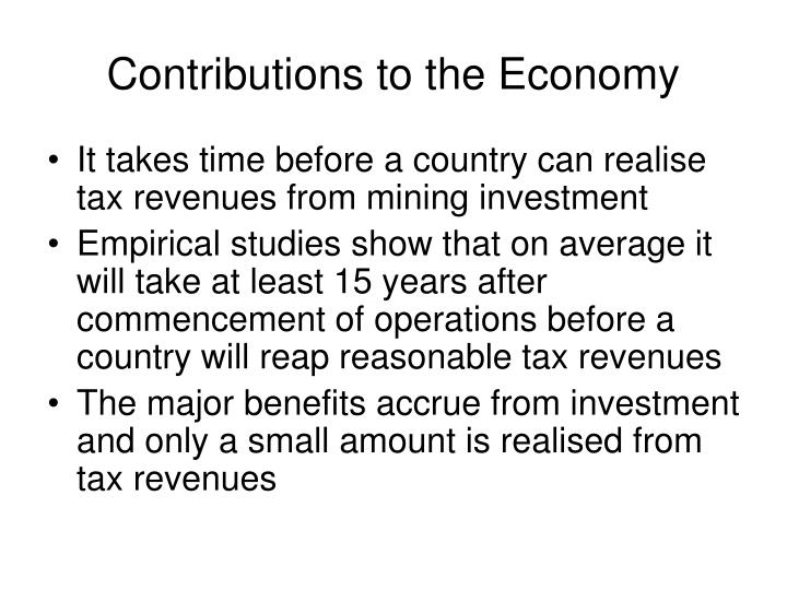 Contributions to the Economy