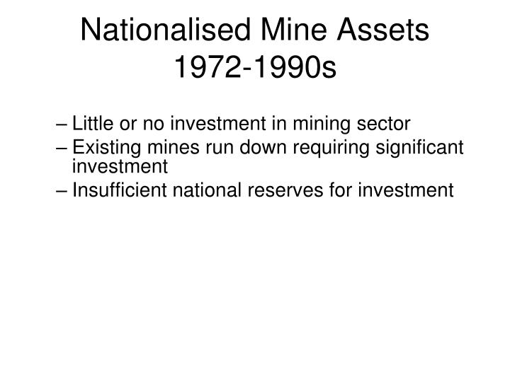Nationalised Mine Assets