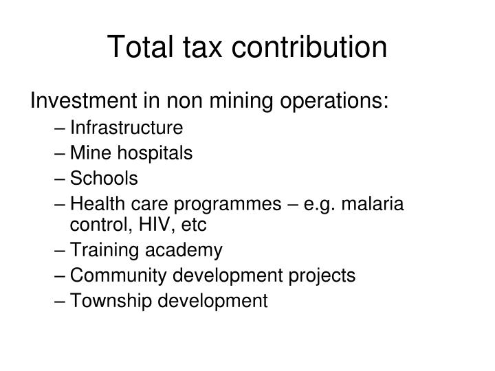 Total tax contribution