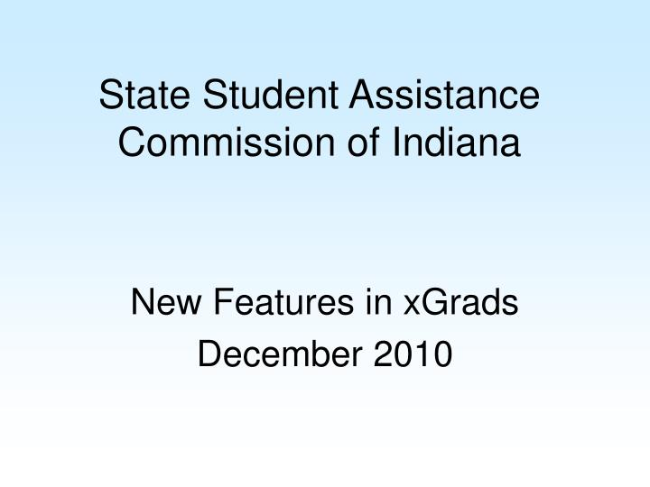 State Student Assistance Commission of Indiana