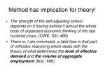 method has implication for theory