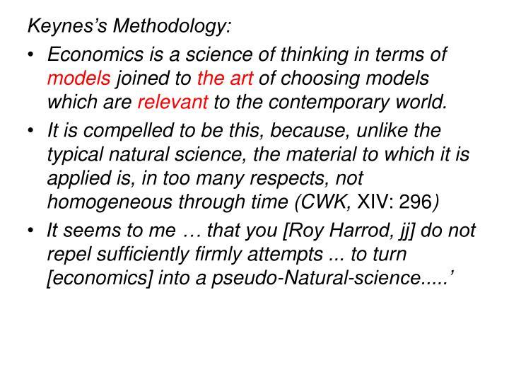 Keynes's Methodology: