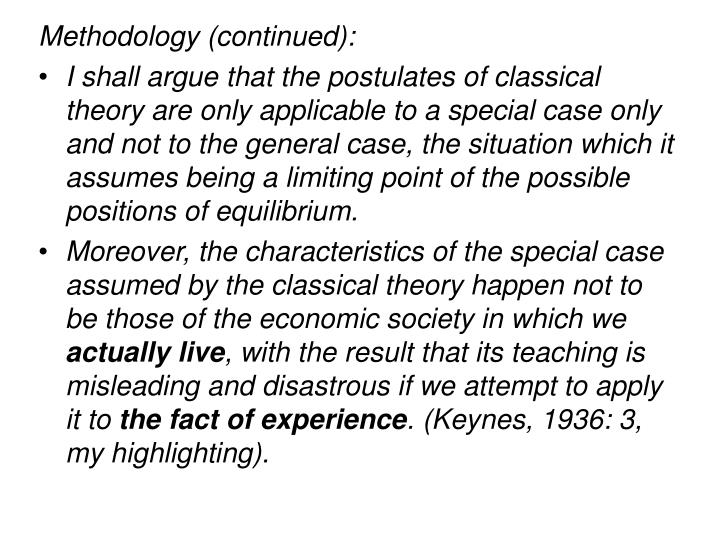 Methodology (continued):