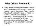 why critical realism ii