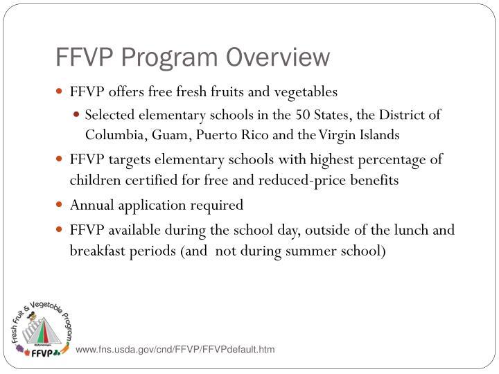 FFVP Program Overview