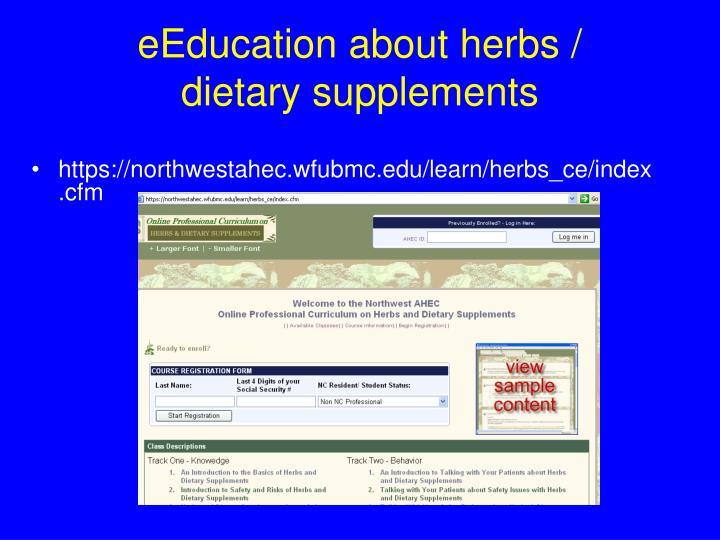 eEducation about herbs /