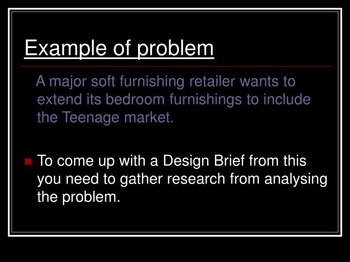 Example of problem