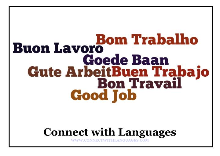 Connect with Languages
