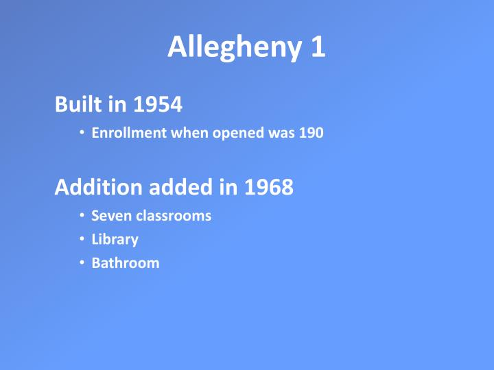 Allegheny 1