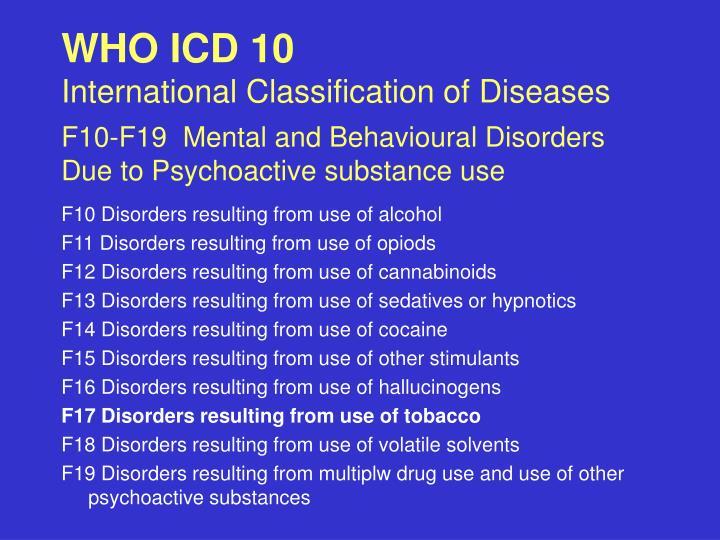 WHO ICD 10