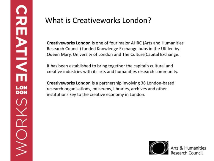 What is Creativeworks London?