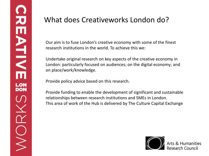 What does Creativeworks London do?
