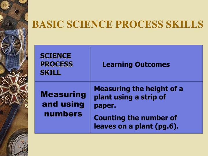 BASIC SCIENCE PROCESS SKILLS