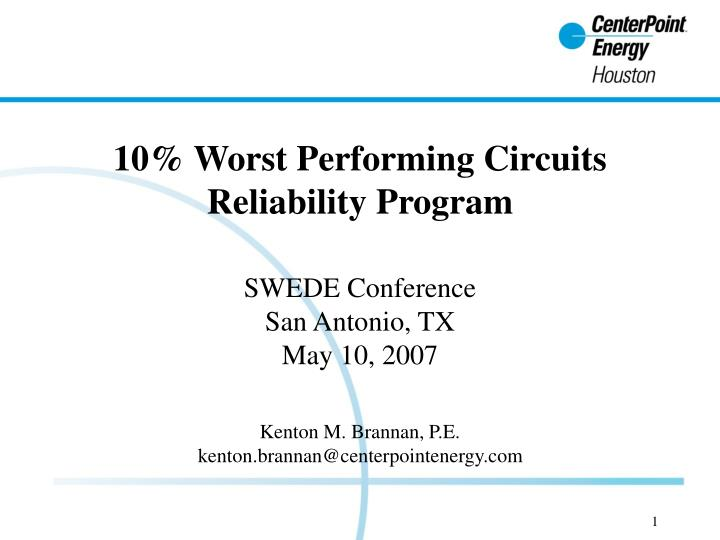 10% Worst Performing Circuits