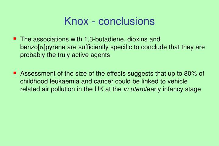 Knox - conclusions