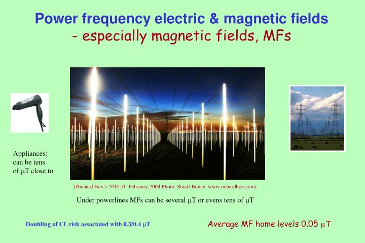 Power frequency electric & magnetic fields