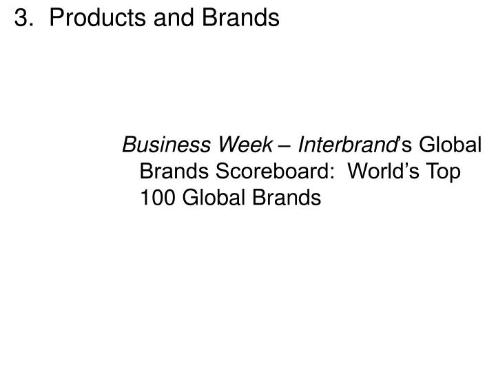 3.  Products and Brands