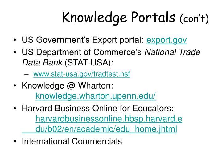 Knowledge Portals