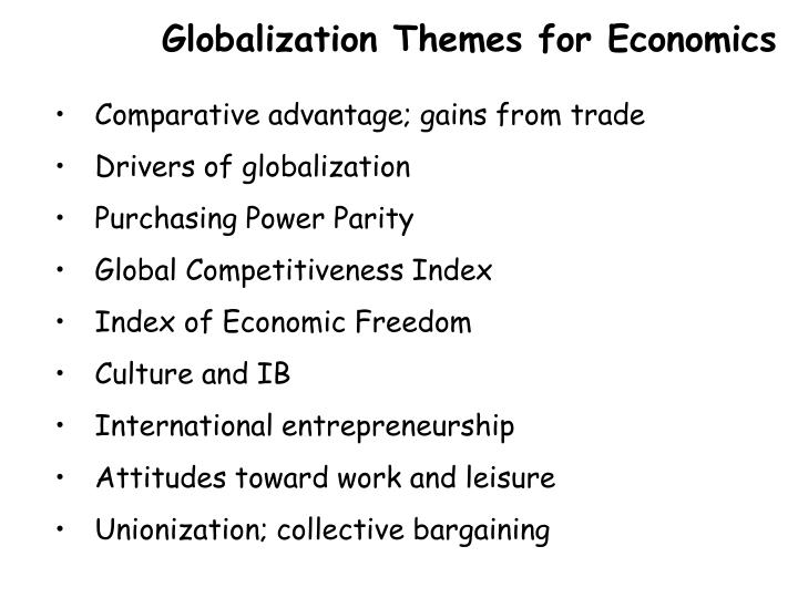 Globalization Themes for Economics