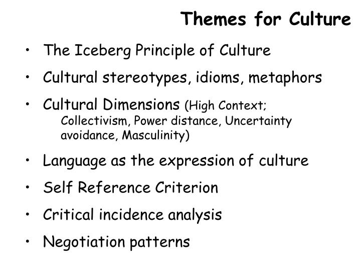 Themes for Culture