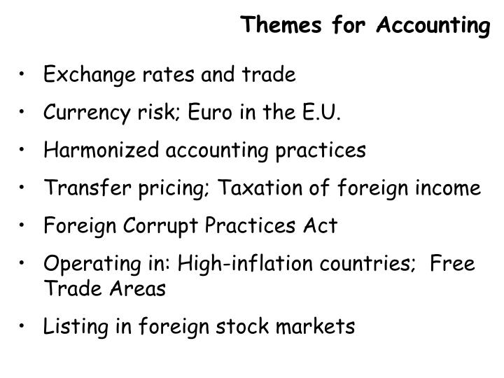 Themes for Accounting