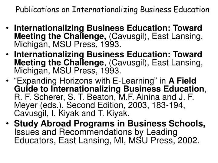 Publications on Internationalizing Business Education