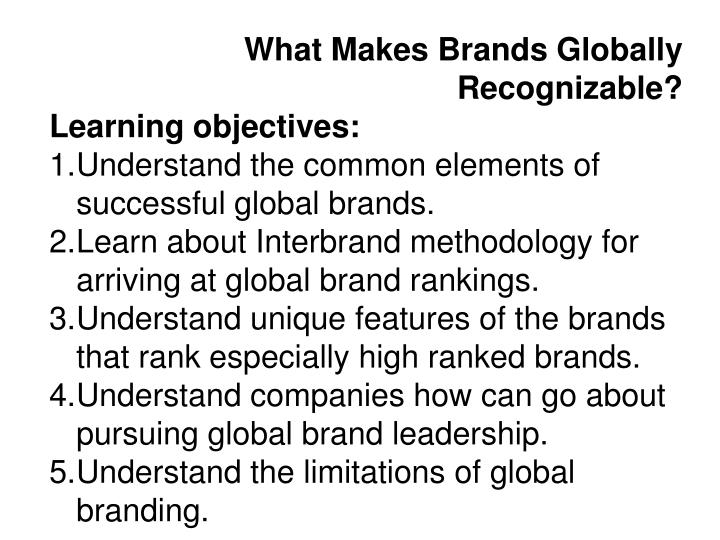 What Makes Brands Globally Recognizable?