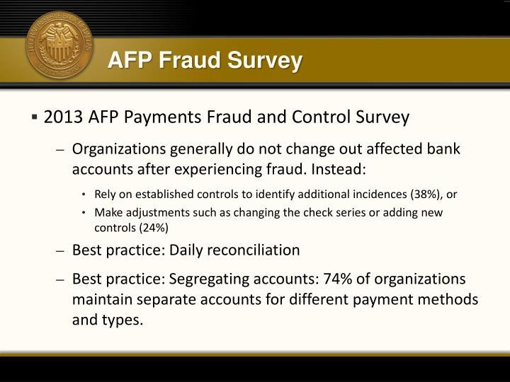 AFP Fraud Survey