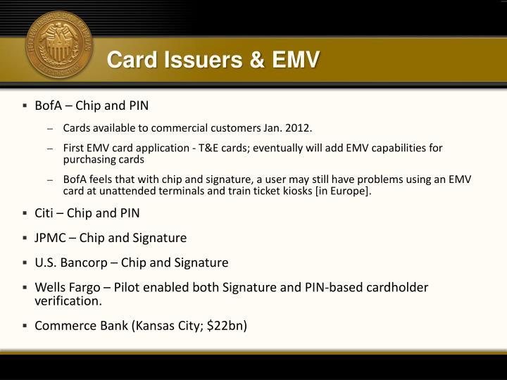 Card Issuers & EMV