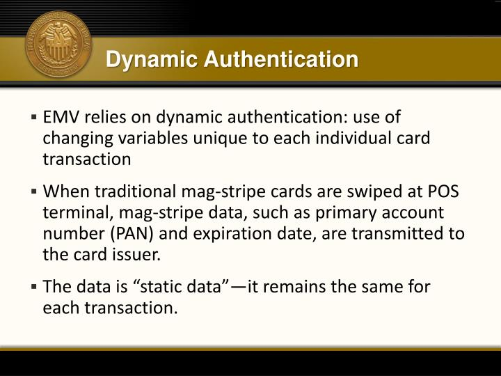 Dynamic Authentication