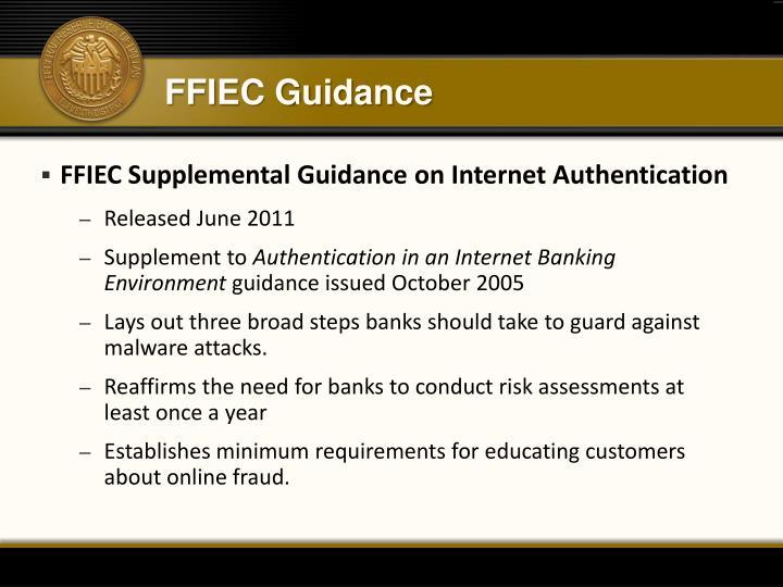 FFIEC Guidance