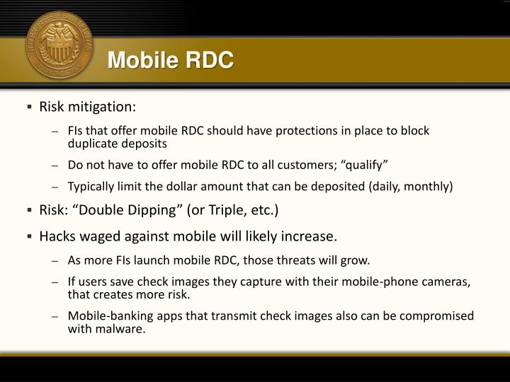 Mobile RDC
