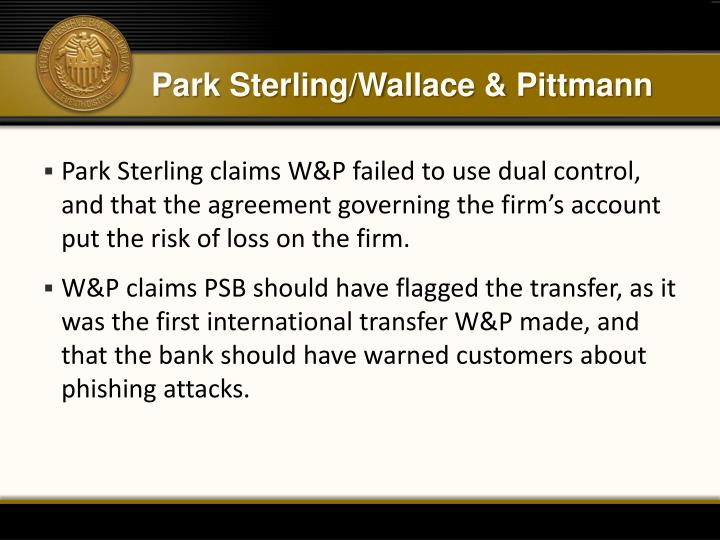 Park Sterling/Wallace &